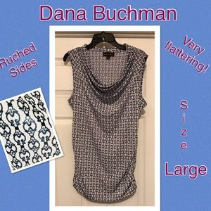 Dana Buchanan ruched sides draped neck tank